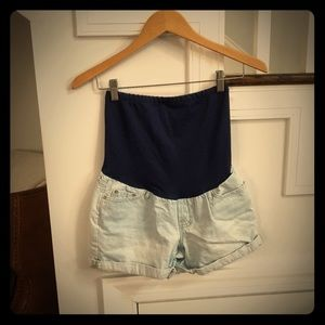 Gap Maternity Over-belly Jean shorts